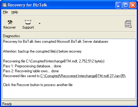 Recovery for BizTalk Screenshot