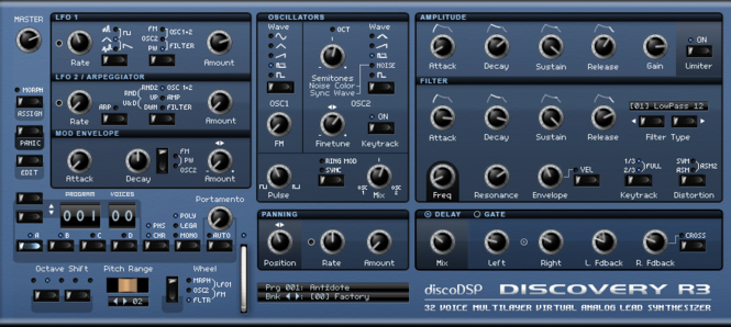 discoDSP Discovery Screenshot 1