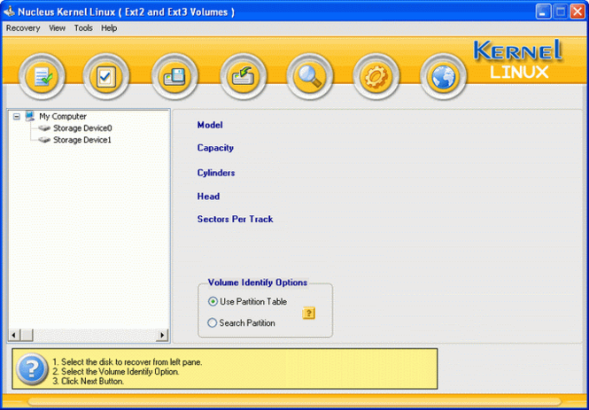 Nucleus Linux Data Recovery Software Screenshot 1