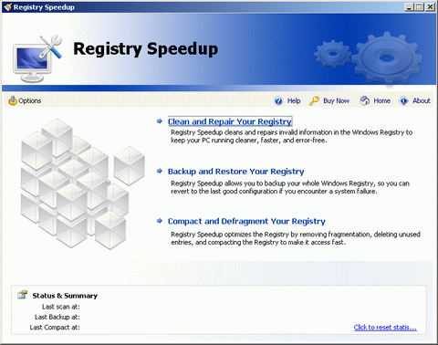 Registry Speedup Screenshot