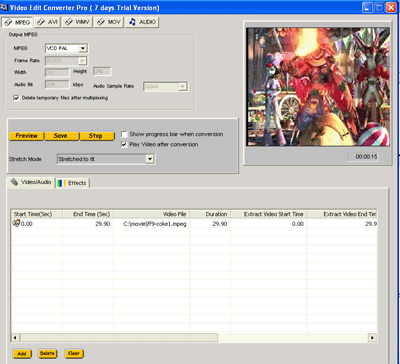 VISCOM Video Edit Converter Pro Screenshot 2