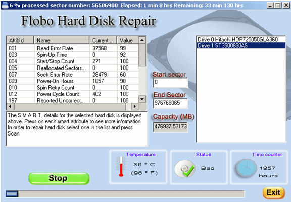 Best Flobo Hard Disk Repair Screenshot