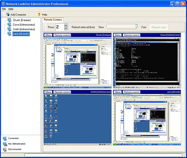Network LookOut Administrator Pro Screenshot