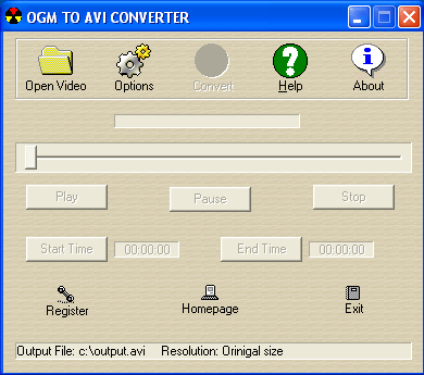 OGM to AVI Converter Screenshot