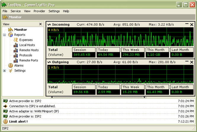 CommTraffic Screenshot