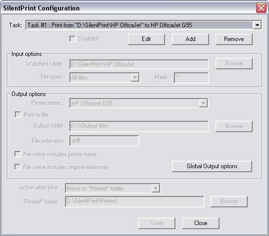 SilentPrint - Batch Printing Software Screenshot