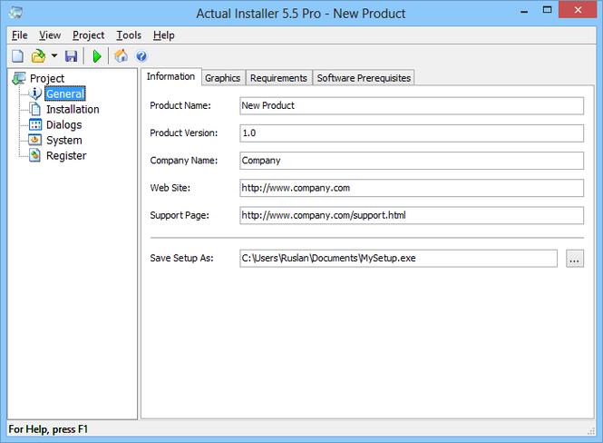 Actual Installer Screenshot