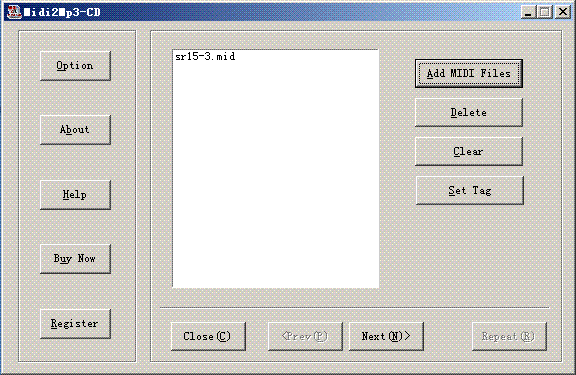 Power MIDI to CD Screenshot 1