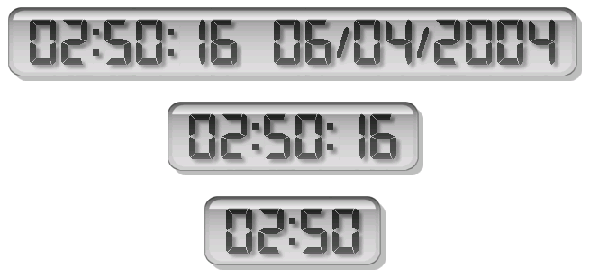 LCD Clock Screenshot 1