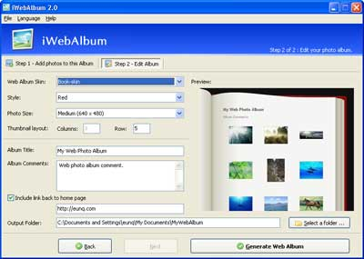 iWebAlbum Screenshot 1