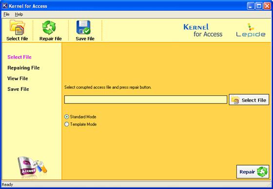 Nucleus Kernel Access Repair Software Screenshot