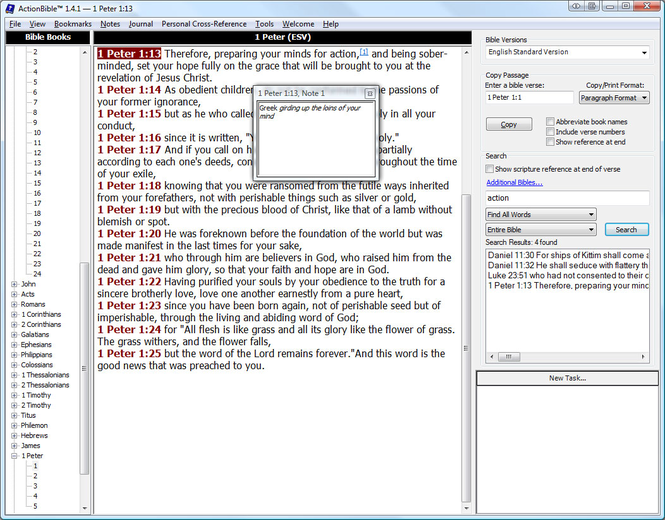ActionBible Screenshot 1