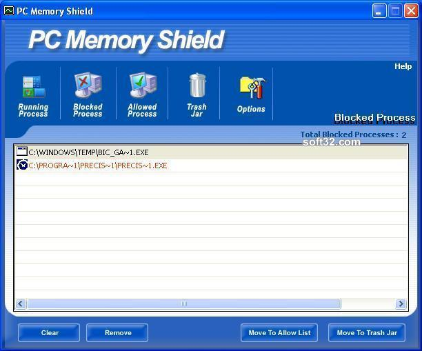 Free PC Memory Shield Screenshot 3