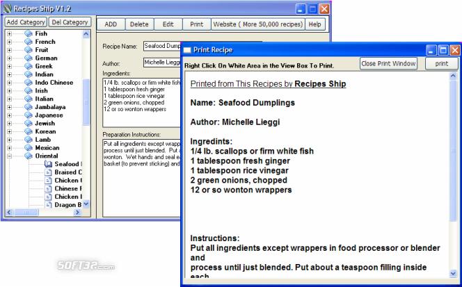 Recipes Ship Screenshot 3