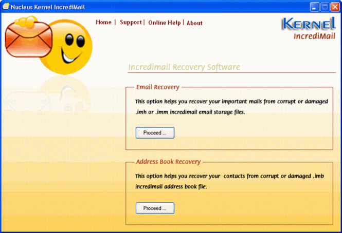 Nucleus Incredimail Recovery Screenshot