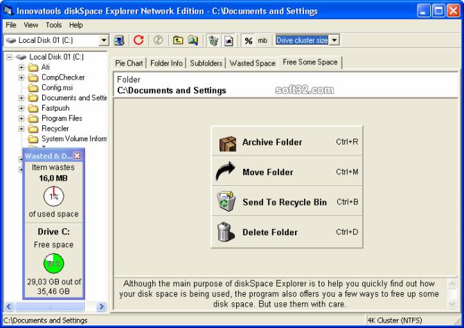 diskSpace Explorer Network Edition Screenshot 3