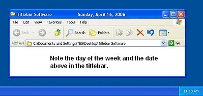 Titlebar Date Screenshot