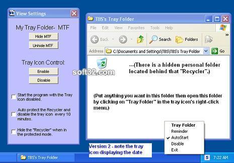 Tray Folder Screenshot 2