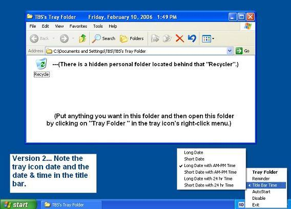 Tray Folder Screenshot