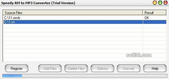 Speedy RM to MP3 Converter Screenshot 2