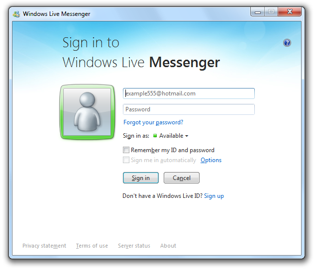 Windows Live Messenger (formerly MSN Messenger) Screenshot