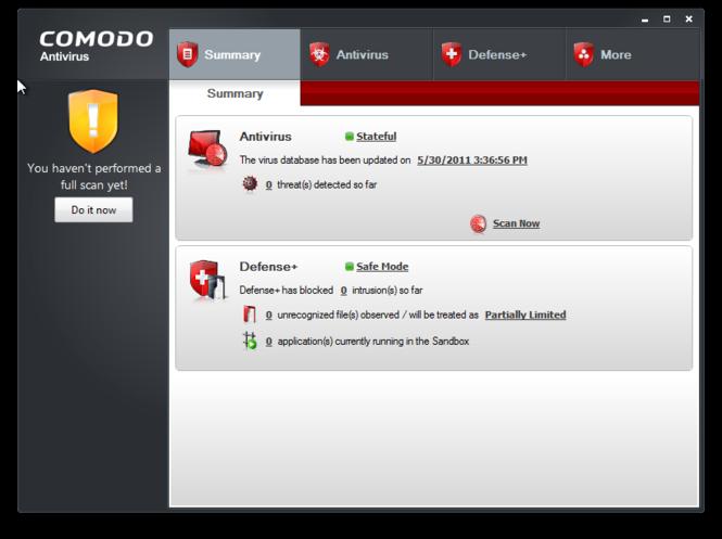Comodo Antivirus Screenshot 2