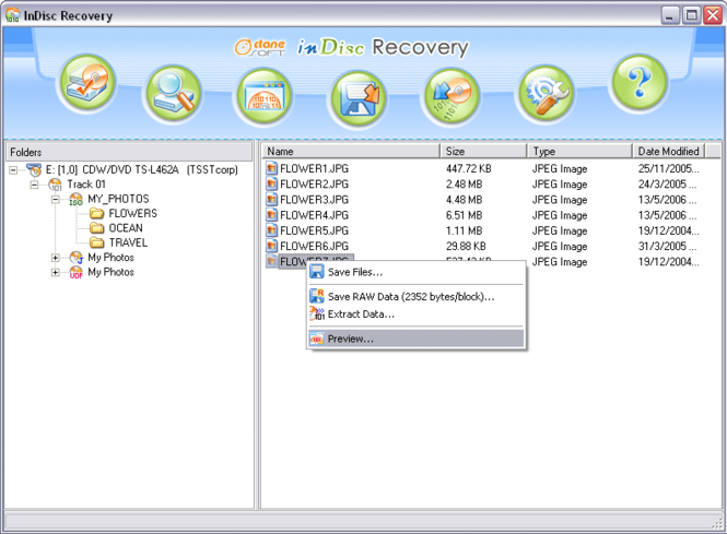 inDisc Recovery Screenshot