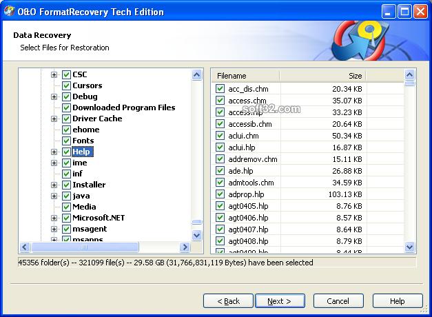 O&O FormatRecovery Screenshot 3