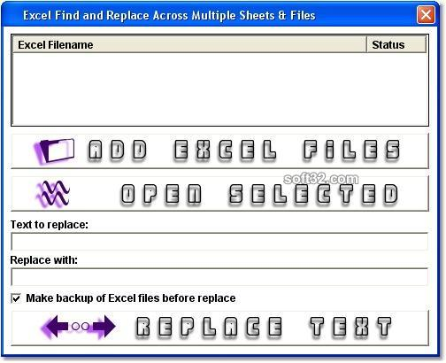 Excel Find and Replace In Multiple Files Software Screenshot