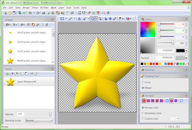 RealWorld Icon Editor Screenshot