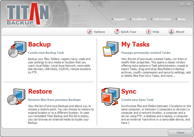 Titan Backup Screenshot 1