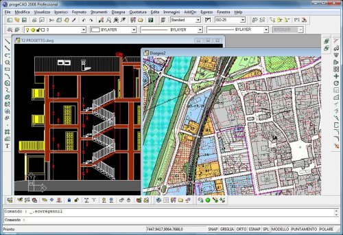 progeCAD 2009 Professional IntelliCAD Screenshot