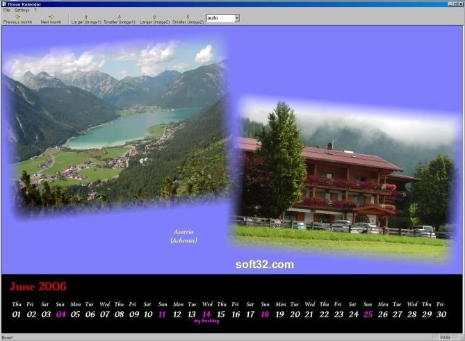 TKexe Kalender Screenshot