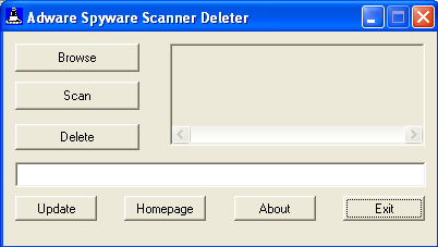 Adware Spyware Scanner Deleter Screenshot 1