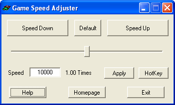 Game Speed Adjuster Screenshot