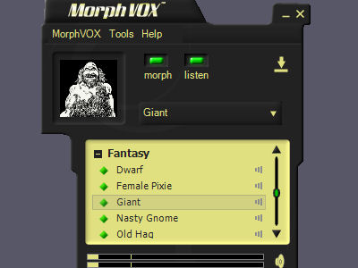 Fantasy Voices - MorphVOX Add-on Screenshot 1