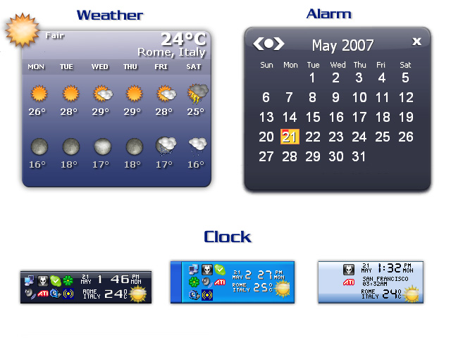 Weather Clock Screenshot 2