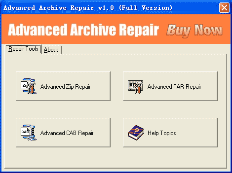 Advanced Archive Repair Screenshot 1