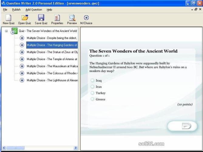 Question Writer 3 Basic Screenshot 3