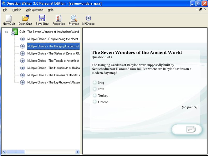 Question Writer 3 Basic Screenshot