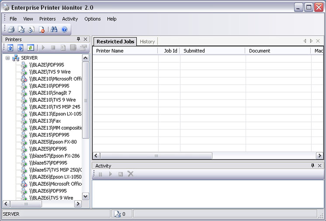 Enterprise Printer Monitor Screenshot 1