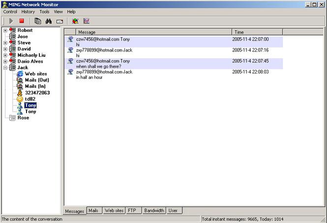MING Network Monitor Screenshot 1