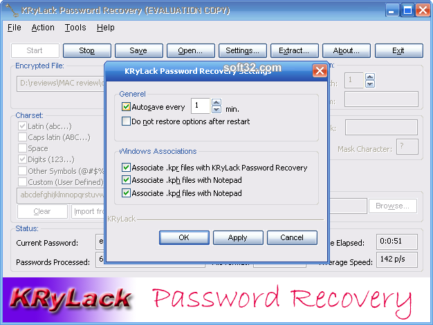 KRyLack Password Recovery Screenshot 4