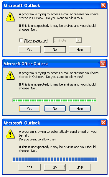 Outlook Security Manager Screenshot