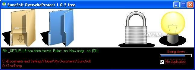 SunoSoft Overwrite Protect Free Screenshot 1