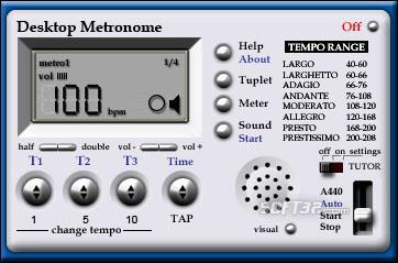 Desktop Metronome Screenshot 1
