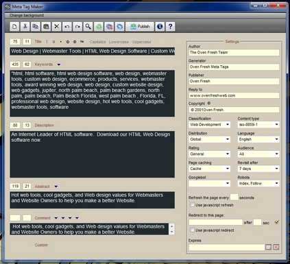 Meta Tag Maker Screenshot
