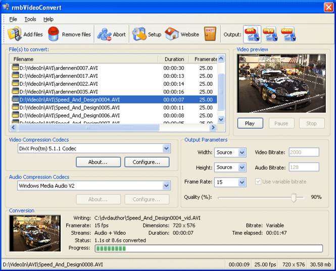 rmbVideoConvert Screenshot