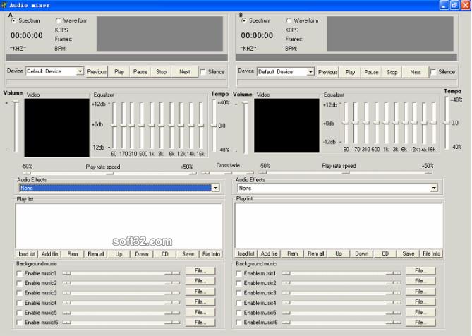 Audio studio ActiveX Screenshot