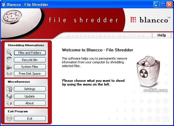 Blancco - File Shredder Screenshot